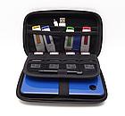 Органайзер / кейс / бокс жёсткий GUANHE GH1808 (180*120) с ручкой, для Nintendo New3DS XL / проводов / HDD, фото 5