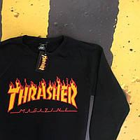 Свитшот Thrasher Fire Черный
