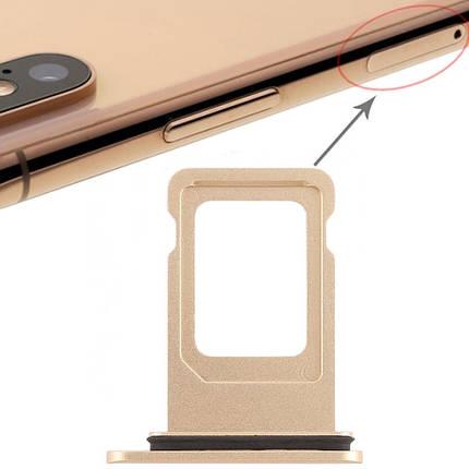 Держатель Sim-карты Apple iPhone XR желтый, на одну Sim-карту, фото 2