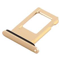 Держатель Sim-карты Apple iPhone XR желтый, на одну Sim-карту, фото 3