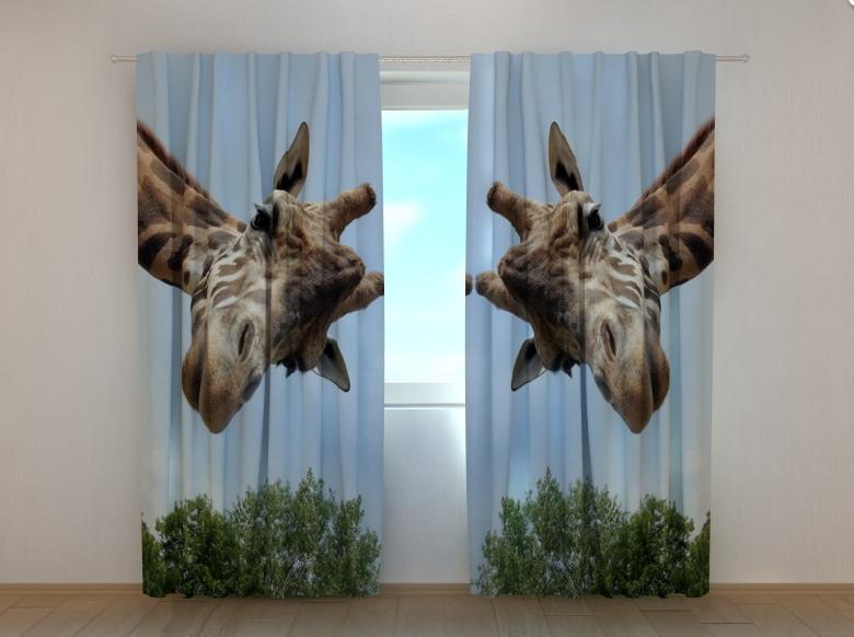 """Фотошторы """"Жираф"""" 250 х 260 см"""