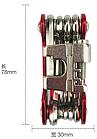 Велосипедний мультитул / набір інструменту 12-в-1 BOY 8050A з витягами ланцюга, фото 3