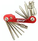 Велосипедний мультитул / набір інструменту 12-в-1 BOY 8050A з витягами ланцюга, фото 5