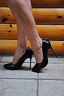 Туфли черные лодочки лаковые код 553