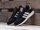 Чоловічі кросівки Adidas Iniki Runner Black/White, фото 2