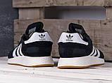 Чоловічі кросівки Adidas Iniki Runner Black/White, фото 3