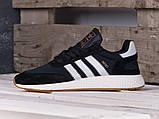 Чоловічі кросівки Adidas Iniki Runner Black/White, фото 4