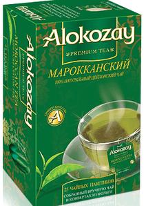 Чай зелёный  ALOKOZAY   со вкусом мяты  25 пакетиков