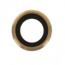 Стекло камеры Apple iPhone 6 Plus золотистое  кольцо