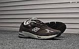 Кросівки чоловічі New Balance 991 (коричневі), фото 3