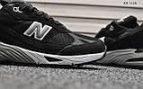 Кроссовки мужские New Balance 991 (черные), фото 4