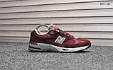 Кросівки чоловічі New Balance 991 (чорні), фото 4