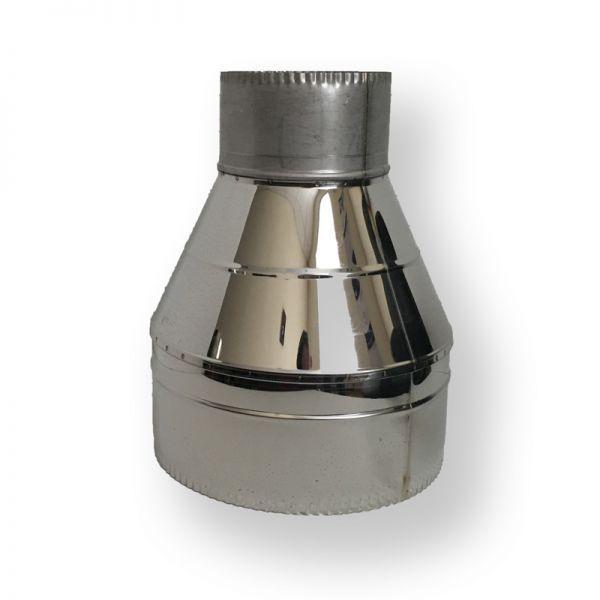Фабрика ZIG Обратный конус для дымохода ø 220/280 нерж/нерж 0,6 мм