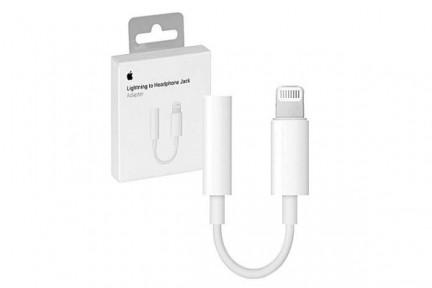 Адаптер (переходник) Apple Lightning на 3.5mm Headphones, для наушников (MMX62)