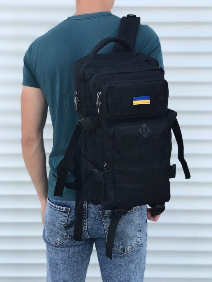 Качественный тактический рюкзак 25 л черный