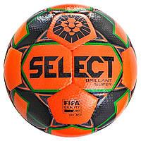 Мяч футбольный SELECT Brillant Super FIFA PFL (015) оранж/серый размер 5