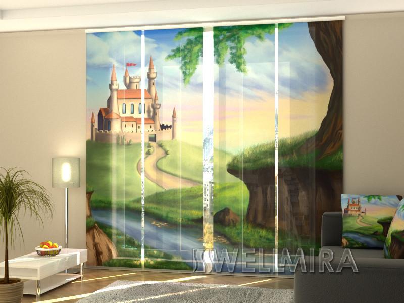 """Панельные Фотошторы """"Замок для принцессы"""" 240 х 240 см"""