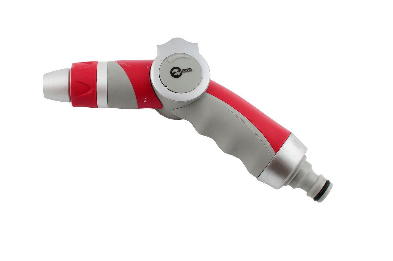 Пистолет поливочный Intertool - плавная регулировка воды 3 функции GE-0018