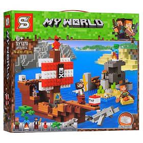 Конструктор Senco SY1270 Приключения на пиратском корабле. Майнкрафт (аналог Lego Minecraft 21152)