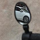 Дзеркало заднього виду на кермо вело панорамне поворотне c силіконовим швидкознімним кріпленням (ТРИ ВАРІАНТИ), фото 3
