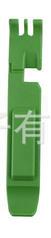 """Бортировочная лопатка (1+1 → кліщі) для зняття замку ланцюга 2-в-1 """"трансформер"""", ABS-пластик, товщина 7-8 мм ЗЕЛЕНИЙ"""