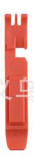 """Бортировочная лопатка (1+1 → кліщі) для зняття замку ланцюга 2-в-1 """"трансформер"""", ABS-пластик, товщина 7-8 мм ЧЕРВОНИЙ"""