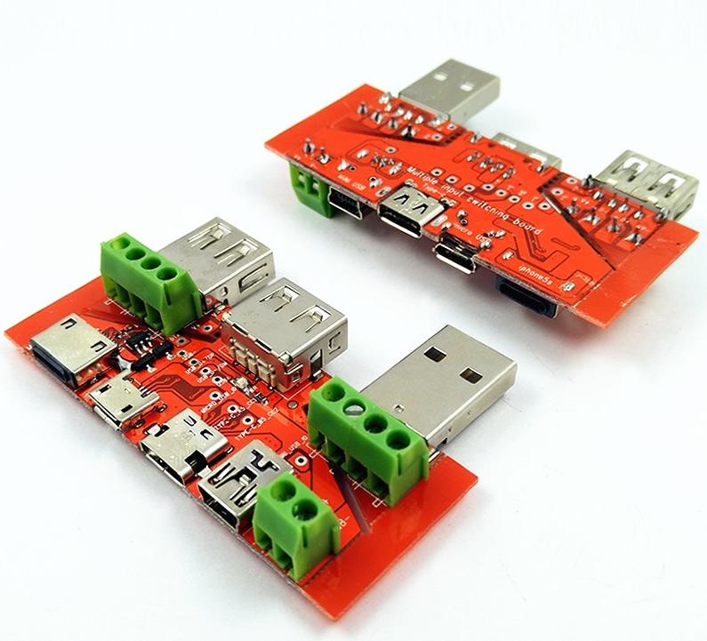 Адаптер переходник универсальная плата JUWEI KH-819 (JW-ZSB, JW-025) для разных USB-разъемов