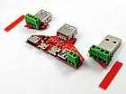 Адаптер переходник универсальная плата JUWEI KH-819 (JW-ZSB, JW-025) для разных USB-разъемов, фото 4