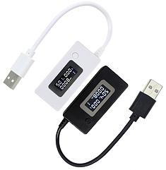 "USB тестер зарядки Juwei KCX-017 (3.0V-7.0V; 0A-3.5A) / ""доктор"" - измерение: A, V и счетчик ёмкости (мА*ч)"