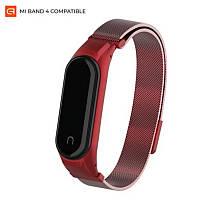 Ремешок Armorstandart Milanese Magnetic Band 4303 для Xiaomi Mi Band 4/3 Red (ARM55541)