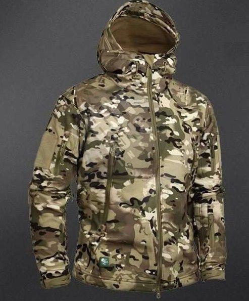 Тактическая куртка На Флисе ESDY SoftShell Ranger Мультикам