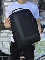 Стильная черная сумка-рюкзак с отделения для ноутбука (унисекс)