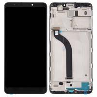 Дисплей Xiaomi Redmi 5 с сенсором (тачскрином) и рамкой черный