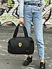 Женская спортивная сумка Puma Ferrari, черная, фото 3