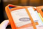 Органайзер туристичний / дорожній / авіа для документів квитків паспортів компактний 18,5 * 13 см, фото 6