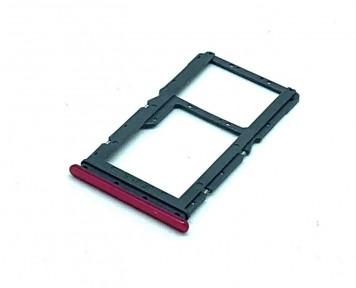 Держатель Sim-карты и карты памяти Xiaomi Redmi Note 7 красный