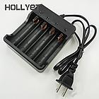 Зарядное устройство кабельное для литиевых аккумуляторов 4*18650 / индикация заряда / кабель (75 см), фото 3