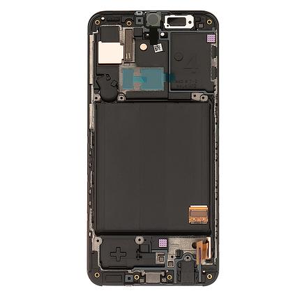 Дисплейний модуль для Samsung A405F Galaxy A40 з рамкою чорний (GH82-19672A) Оригінал, фото 2