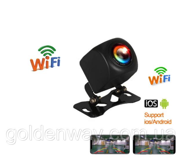 Автомобильная камера заднего вида Wifi  для легковых авто, микроавтобусов, фургонов 12 Вольт