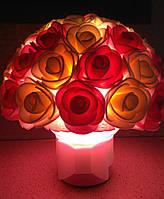 Светильник Букет роз 4 Оригинальный подарок ручной работы