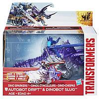 Автобот Дрифт и динобот Слаг - Drift, Slug, Dino Sparklers, TF4, Hasbro - 143145