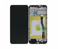 Дисплейный модуль для Samsung M205F Galaxy M20 с рамкой черный (GH82-18682A) Оригинал