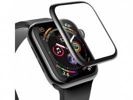 3D Защитное стекло Apple Watch 1, Watch 2, Watch 3 38mm, 0.23mm, Full-screen Curved Tempered Glass, черное, Baseus (SGAPWA4-C01)