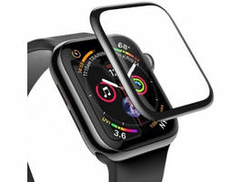 3D Защитное стекло Apple Watch 1, Watch 2, Watch 3 42mm, 0.23mm, Full-screen Curved Tempered Glass, черное, Baseus (SGAPWA4-D01)