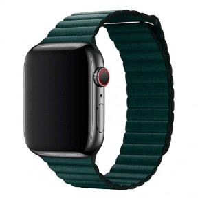 Ремешок для смарт-часов Apple Watch 4244mm Leather Loop Forest Green
