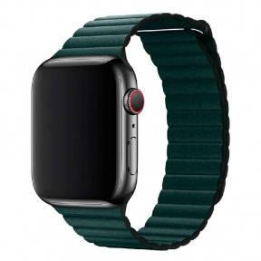 Ремешок для смарт-часов Apple Watch 4244mm Leather Loop Forest Green, фото 2