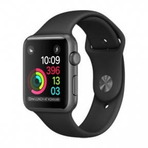 Ремешок для смарт-часов Apple Watch 4244mm Sport Band Black, размер ML, фото 2