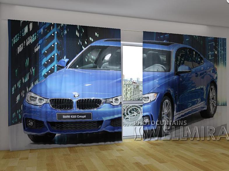 "Панорамные Фотошторы ""BMW купе"" 270 х 500 см"