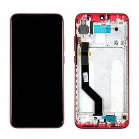 Дисплей Xiaomi Redmi Note 7 з сенсором (тачскрін) і рамкою червоний, фото 2