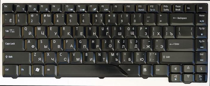 Клавиатура для ноутбука Acer Aspire 5520 черный